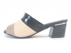 Piccadilly pantofle 542087-5 černé/béžové