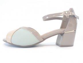 Piccadilly sandály 542 089-2 béžové/mentolové