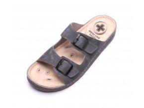 Mediline pánské pantofle S182.002 šedé