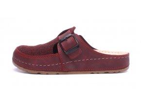 Mediline dámské pantofle S182.006 bordové