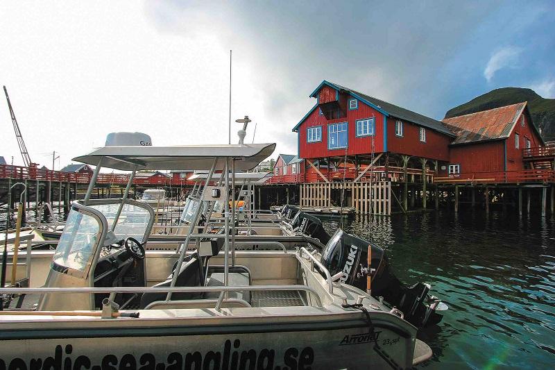 Ubytování u mola – Lofoty, Norsko
