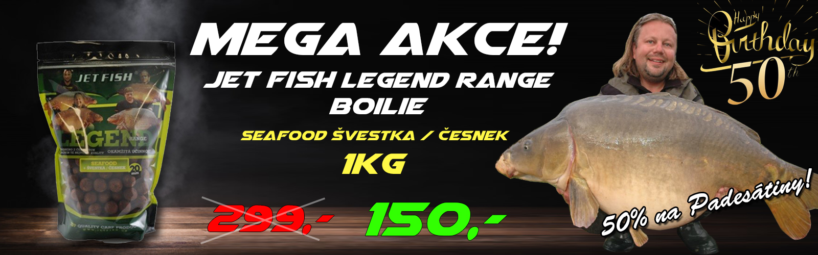 Mega Akce Jetfish 50%!