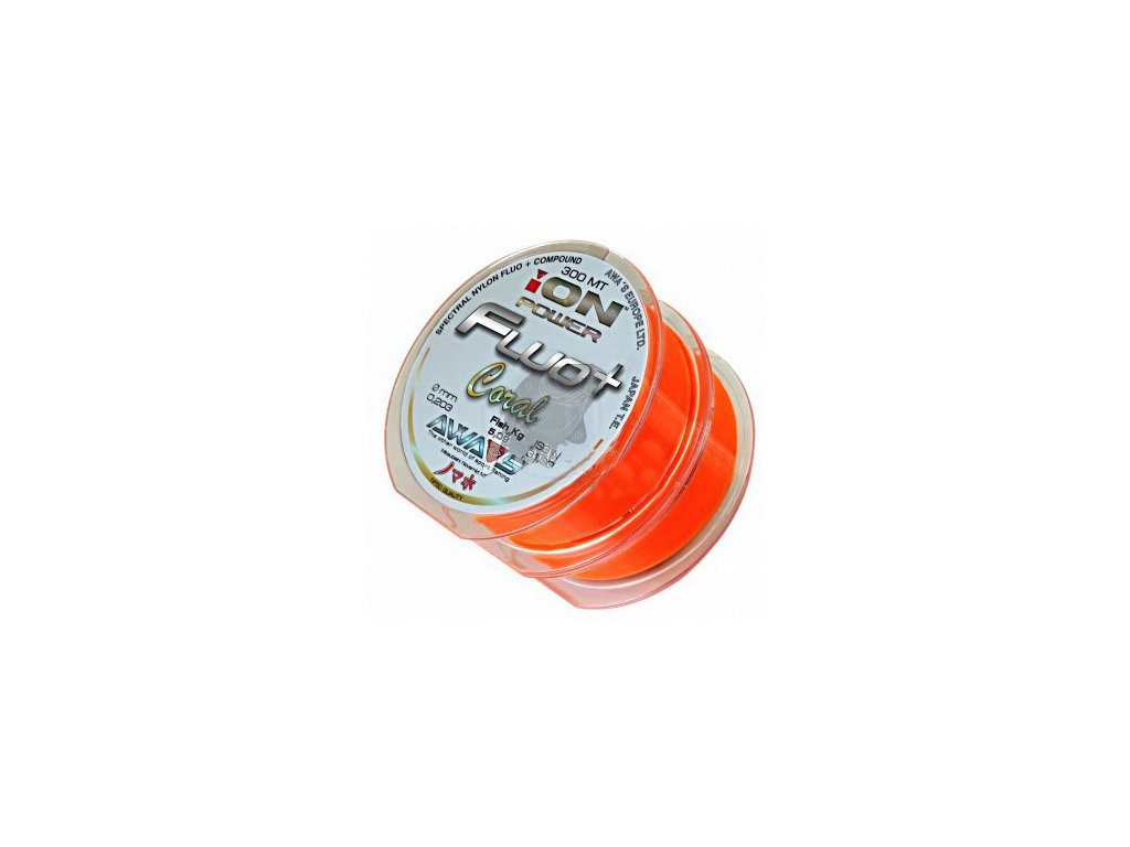 AWAS Vlasec ION POWER Fluo+ Coral 600m - 2x300m