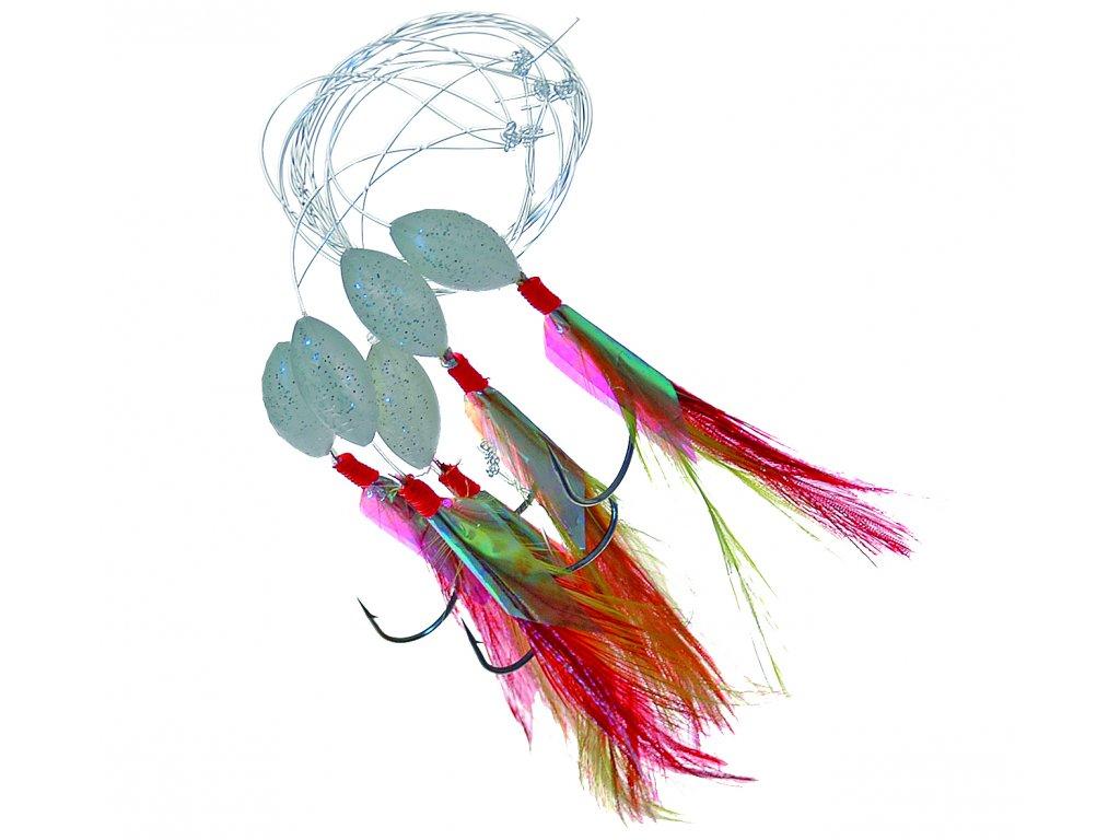 20843 ice fish navazec makrelovy cerveny 5ks