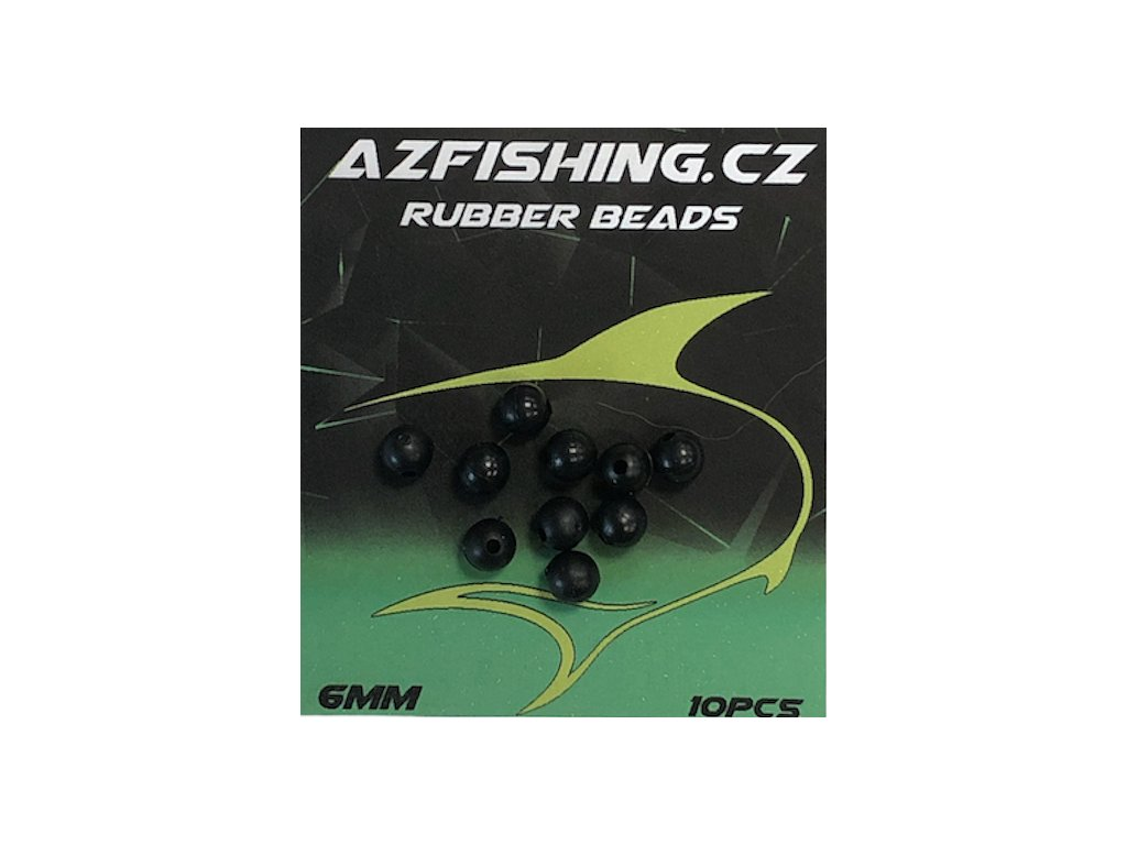 AzFishing Gumové Korálky Rubber Beads 10ks