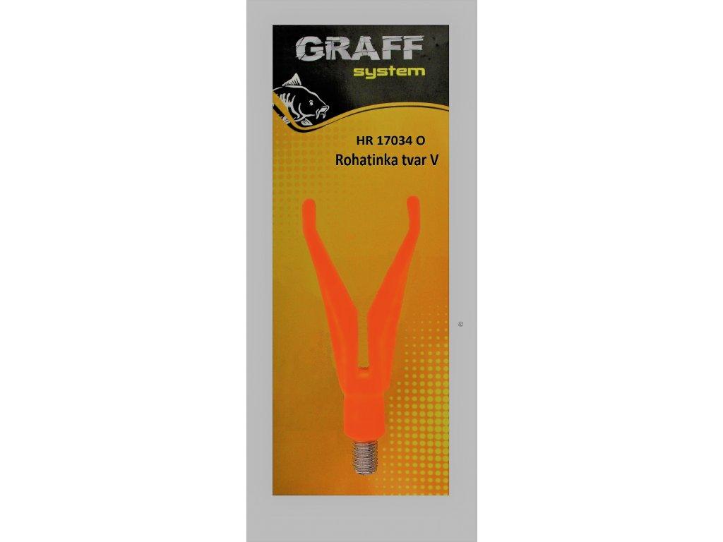 Graffishing Rohatinka Plastová - tvar V oranžová