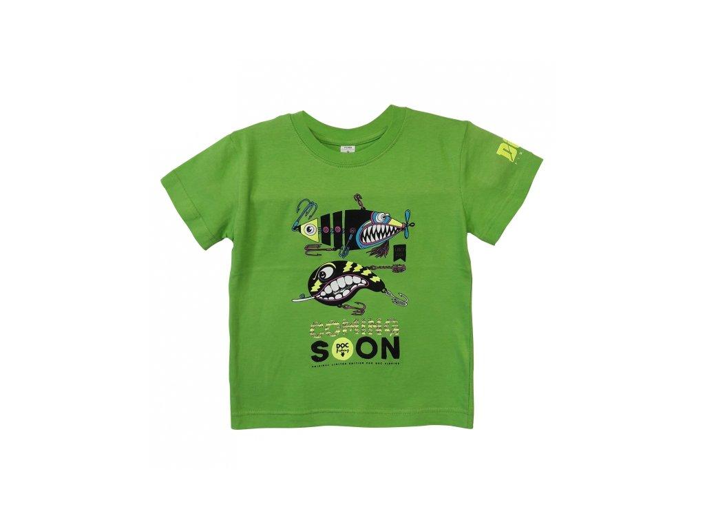 DOC Fishing Triko dětské TŘPYTKY - zelená