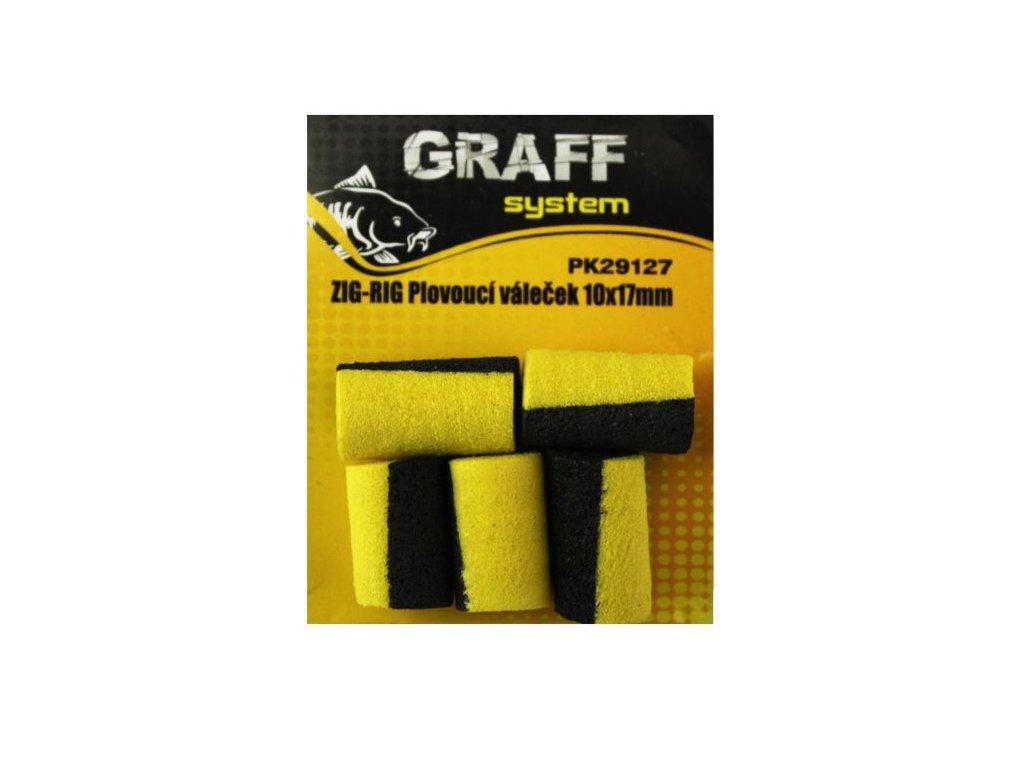 Graffishing ZIG-RIG- Plovoucí váleček 10x17mm černo-žlutá 5ks