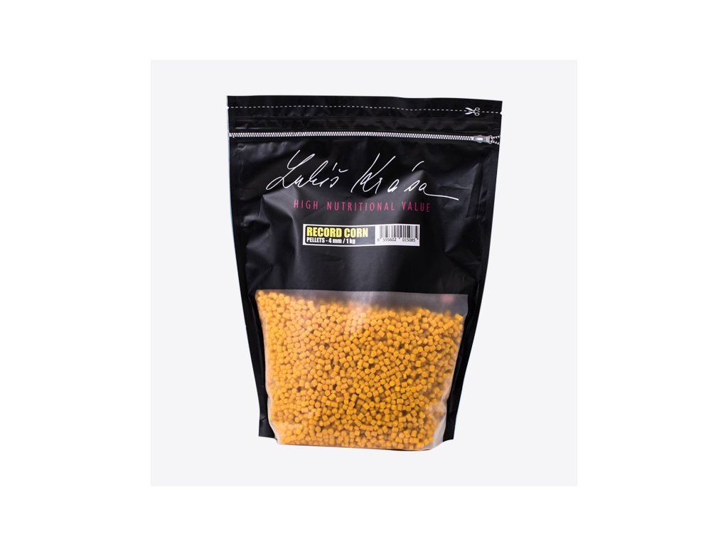 LK Baits Pelety - World Record Carp Corn 12-17mm 1kg