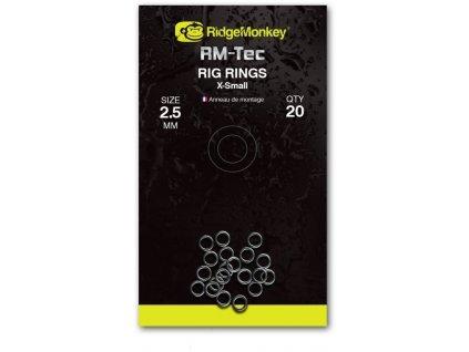 RidgeMonkey Kroužky Rig Rings   2,5mm