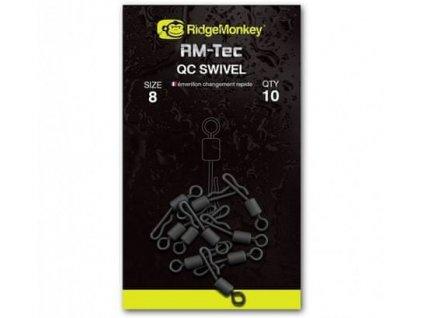 RidgeMonkey Rychlovýměnný obratlík pro Inline odpadávací olova Quick Change Inline Swivel | 8