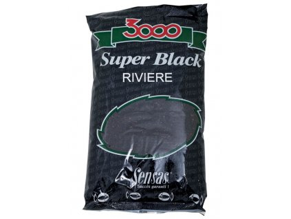 Sensas Krmení 3000 Super Black (Řeka-černý) 1kg