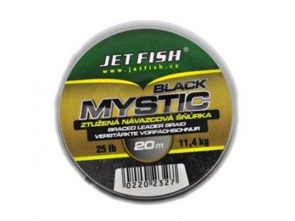 Jet Fish Ztužená Splétaná Šňůrka 20m Black Mystic 25lb