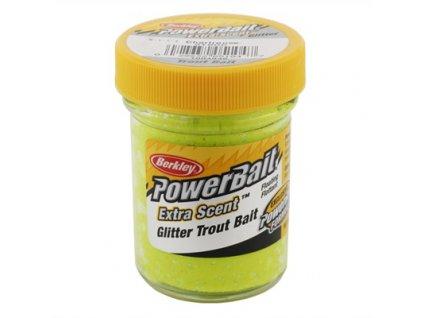 Berkley Trout Bait Glitter Chartreuse Pstruží těsto (1)