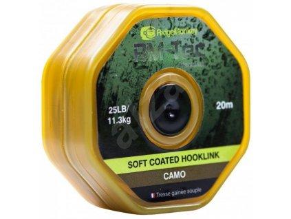 RidgeMonkey Šnůra Tec Soft Coated Hooklink 20m 25lb