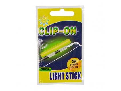 10 bag pack Fishing Float Fluorescent Lightstick Clip On Rod Dark Glow Sticks SS S M