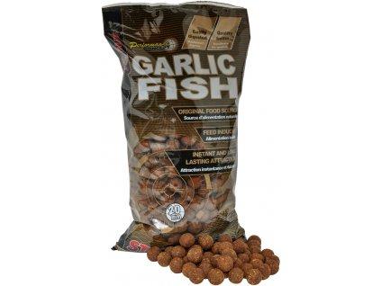 STARBAITS Boilie Potápivé - Garlic Fish 2,5kg