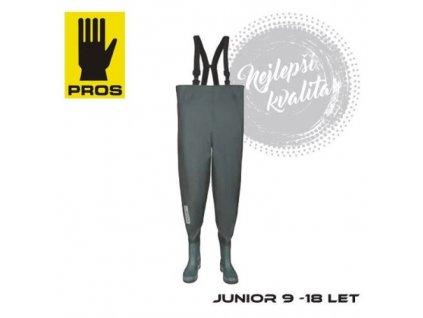 PROS Dětské Brodící kalhoty Junior zelená