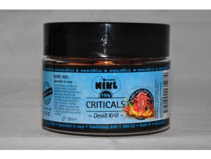 16316 6 nikl boilie criticals devill krill 150g