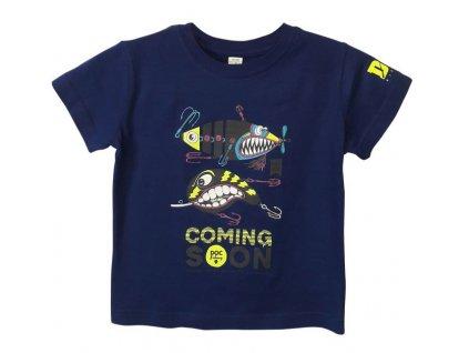 doc fishing triko detske trpytky kralovska modra