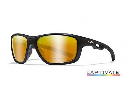 WILEY X Polarizované Sluneční Brýle ASPECT CaptivateLifestyle Series Matný Černý Rám