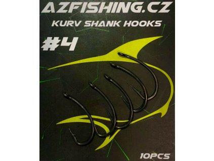 AzFishing Háčky Kurv Shank Hooks