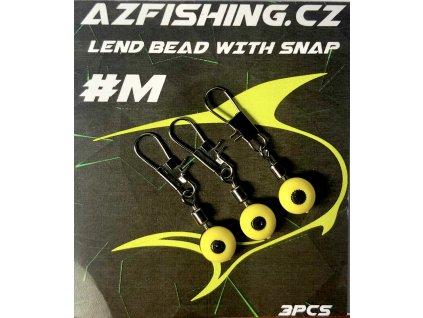 AzFishing Gumové Průjezdy s Karabinkou Lend Bead With Snap