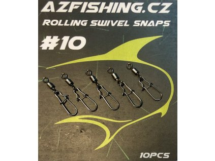 AzFishing Karabinka s obratlíkem Rolling Swivel Snaps