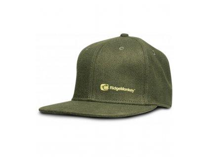 RidgeMonkey Kšiltovka S Rovným Kšiltem APEarel Dropback Snapback Zelená