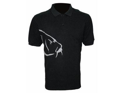 Zfish Tričko Carp Polo T-Shirt Black