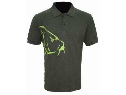 Zfish Tričko Carp Polo T-Shirt Olive Green