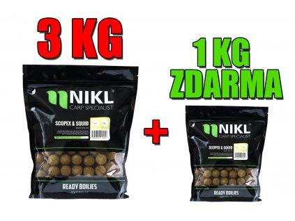 AKCE Nikl Ready boilies 3kg 20mm + 1kg ZDARMA!