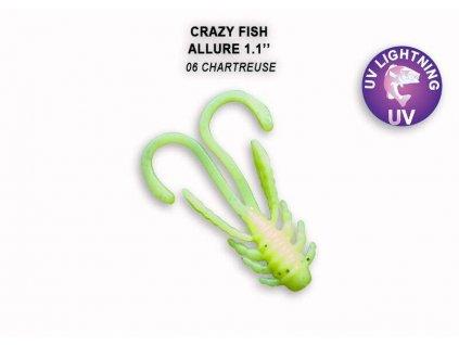 Crazy Fish Gumová Nástraha Allure 1,1 balení 10 kusů