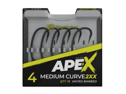 RidgeMonkey Háček Ape-X Medium Curve 2XX Barbed 10ks