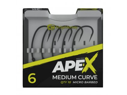 RidgeMonkey Háček Ape-X Medium Curve Barbed 10ks