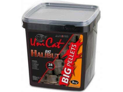 uni cat pelety halibut big pellets 3 kg 28 mm
