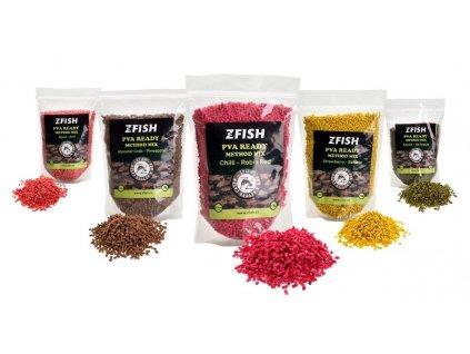 ZFish PVA Ready & Method Feeder Mix 2-3mm 1kg