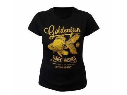 757 P triko damske zlata rybka cerne