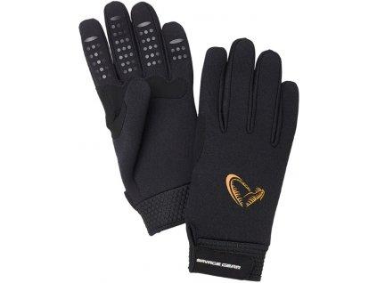 Savage Gear Rukavice Neoprene Stretch Glove Black