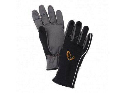 Savage Gear Rukavice Softshell Winter Glove Black