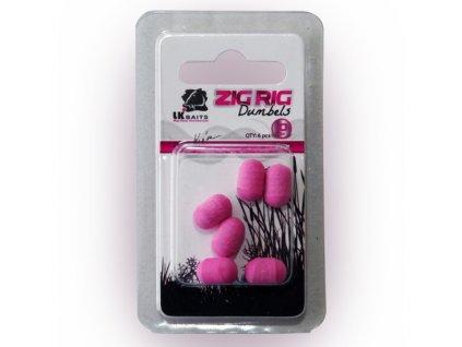 LK Baits ZIG RIG Dumbels Pop–Up 10 mm – Yellow