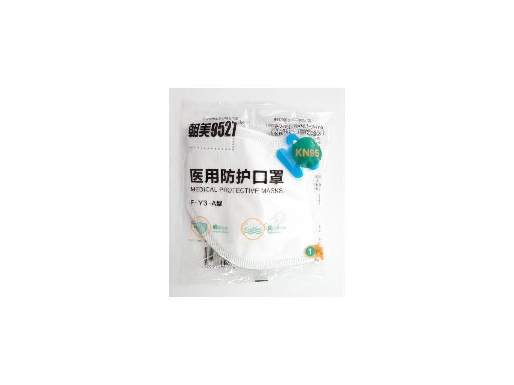 Respirátor s filtrem KN95/FPP2 1ks F-Y3-A