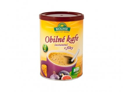 Bio Instantní obilné kafe s fíky BIOLINIE 100g