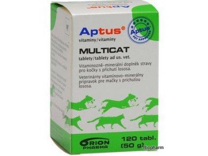 APTUS Multicat 120tbl,multivit. s příchutí lososa