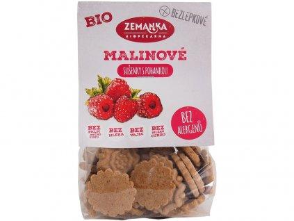 Bio Bezlepkové pohankovo - malinové sušenky 100g