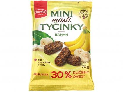 Mini müsli tyčinky s banány bez lepku 70g