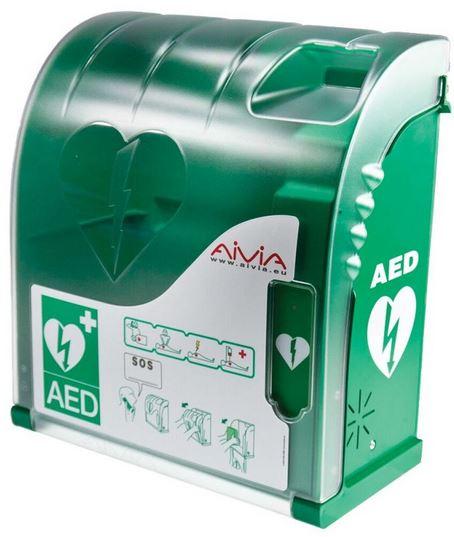 Nástěnný box pro defibrilátor s alarmem Aivia 100 Zdravotnické potřeby AZ-Medica Shop