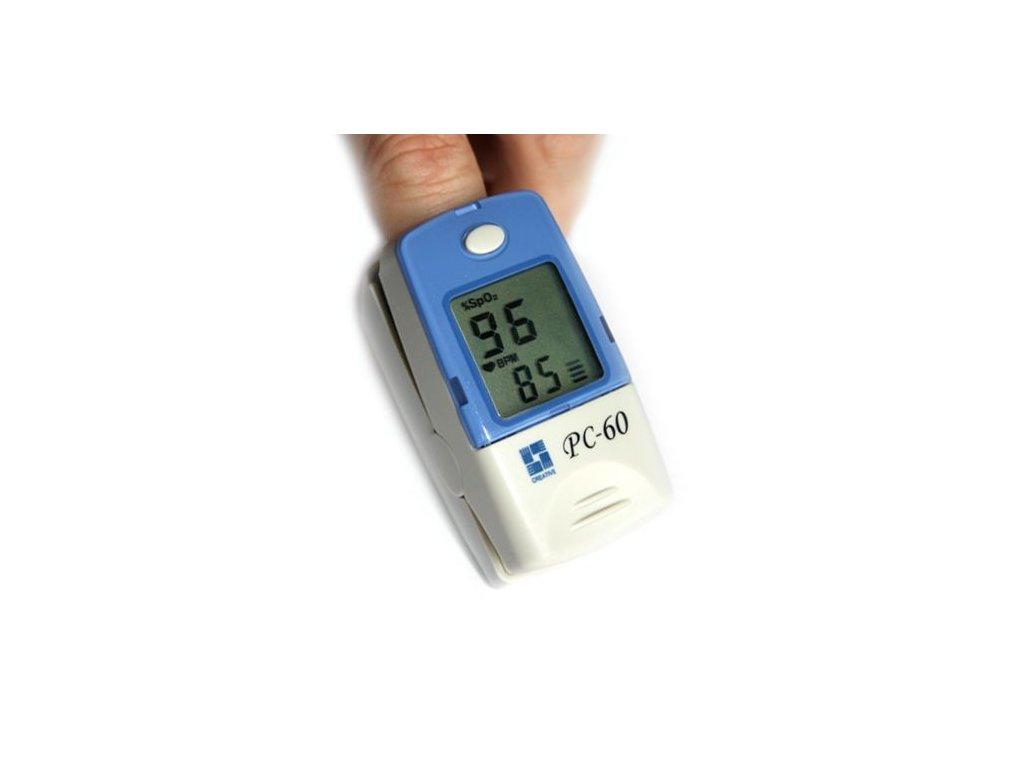 Prstový pulzní oxymetr PC-60A černobílý