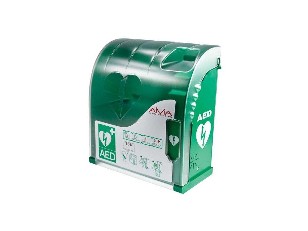 Nástěnný box pro AED defibrilátor AIVIA 100 s alarmem
