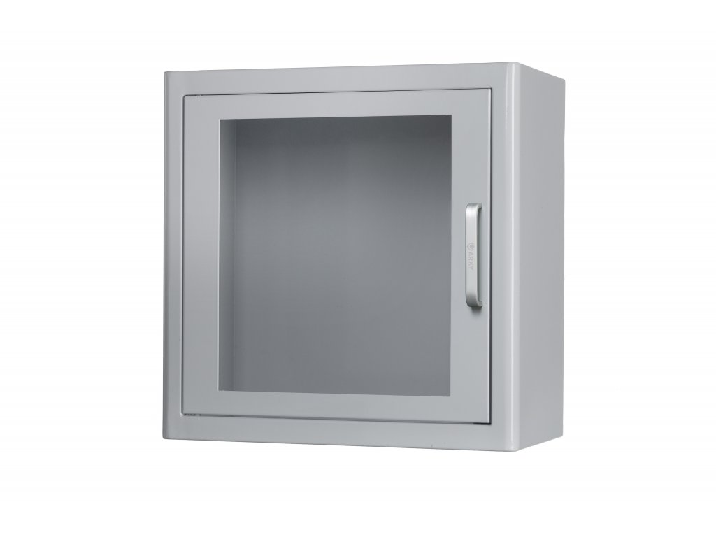 Nástěnná kovová skříňka na AED s alarmem  + označení zdarma